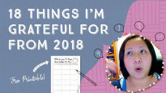 18 Things I'm Grateful For From 2018